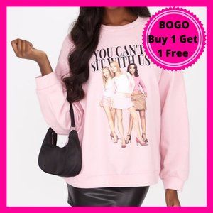 Pink Meangirls Sweatshirt You Can't Sit Wi…